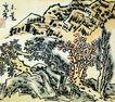 李苦禅作品集0062,李苦禅作品集,中国传世名画,假山 树木 树枝
