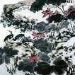 李苦禅作品集0063,李苦禅作品集,中国传世名画,鱼鹰 荷花 荷叶