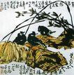 李苦禅作品集0064,李苦禅作品集,中国传世名画,翠竹 鸟儿 风景