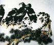 李苦禅作品集0083,李苦禅作品集,中国传世名画,停顿 鸟窝 众多