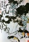 李苦禅作品集0093,李苦禅作品集,中国传世名画,葡萄 鸭子 树荫