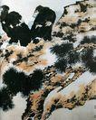 李苦禅作品集0103,李苦禅作品集,中国传世名画,两只老鹰 在石头上 松树