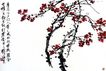 刘海粟作品集0065,刘海粟作品集,中国传世名画,树枝 红花 花朵