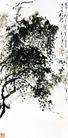 刘海粟作品集0066,刘海粟作品集,中国传世名画,树木 树叶 茂密