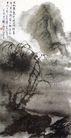 刘海粟作品集0067,刘海粟作品集,中国传世名画,炊烟 垂柳 柳树