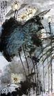 刘海粟作品集0070,刘海粟作品集,中国传世名画,莲花 池水 荷花
