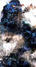 刘海粟作品集0078,刘海粟作品集,中国传世名画,深蓝 山川 景象