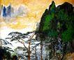 刘海粟作品集0080,刘海粟作品集,中国传世名画,远处 淡黄 云系