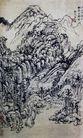 刘海粟作品集0092,刘海粟作品集,中国传世名画,山岭 树林 小路