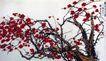 刘海粟作品集0097,刘海粟作品集,中国传世名画,梅树 红梅 冬天