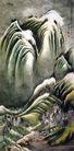 刘海粟作品集0110,刘海粟作品集,中国传世名画,山峰 重叠 一块一块
