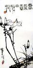 潘天寿作品集0013,潘天寿作品集,中国传世名画,白花 独立 枝尖