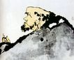 潘天寿作品集0015,潘天寿作品集,中国传世名画,老头 秃顶 耳环