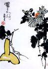 潘天寿作品集0021,潘天寿作品集,中国传世名画,菊花 叶子 花朵