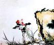 潘天寿作品集0027,潘天寿作品集,中国传世名画,植物 小草 山石