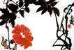 潘天寿作品集0039,潘天寿作品集,中国传世名画,牵牛花 喇叭花 红花朵