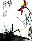 潘天寿作品集0063,潘天寿作品集,中国传世名画,蜻蜓 飞舞 翅膀