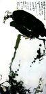 潘天寿作品集0065,潘天寿作品集,中国传世名画,鱼鹰 石头 捕鱼