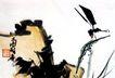 潘天寿作品集0067,潘天寿作品集,中国传世名画,蜻蜓 树叶 自然