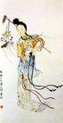 齐白石作品集0091,齐白石作品集,中国传世名画,女子 锄头 葬花