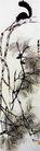 齐白石作品集0097,齐白石作品集,中国传世名画,白鹤 树枝 飞舞