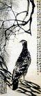 齐白石作品集0100,齐白石作品集,中国传世名画,鱼鹰 尖嘴 柏树
