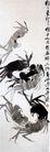 齐白石作品集0108,齐白石作品集,中国传世名画,螃蟹 形态各异 七只