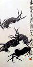 齐白石作品集0110,齐白石作品集,中国传世名画,螃蟹 八只脚 形态各异