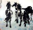 徐悲鸿作品集0061,徐悲鸿作品集,中国传世名画,马匹 骏马 名作