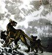 徐悲鸿作品集0063,徐悲鸿作品集,中国传世名画,猛虎 吼叫 虎啸