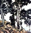 徐悲鸿作品集0068,徐悲鸿作品集,中国传世名画,树木 树干 绿叶