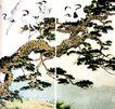 徐悲鸿作品集0076,徐悲鸿作品集,中国传世名画,古松 悬崖 苍劲
