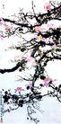 徐悲鸿作品集0103,徐悲鸿作品集,中国传世名画,桃花 粉红色 多条枝