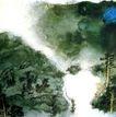 张大千作品集0009,张大千作品集,中国传世名画,乡间 早上 烟雾