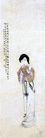 张大千作品集0011,张大千作品集,中国传世名画,古代 女人 羞涩