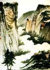 张大千作品集0013,张大千作品集,中国传世名画,陡崖 云宵 深处