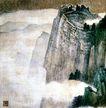 张大千作品集0014,张大千作品集,中国传世名画,云雾 萦绕 仙境