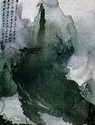张大千作品集0041,张大千作品集,中国传世名画,朦胧山水