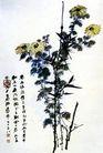 张大千作品集0055,张大千作品集,中国传世名画,菊花 秋菊 鸟儿