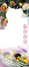 浪漫边框0026,浪漫边框,婚纱摄影,红玫瑰 白玫瑰 碟子