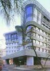俄罗斯联邦0014,俄罗斯联邦,世界建筑设计,近景 树枝 主体建筑
