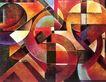 抽象画0063,抽象画,墙饰画,