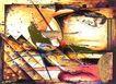 抽象画0122,抽象画,墙饰画,