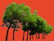 多棵及树群0030,多棵及树群,植物,