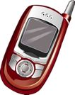 通讯0031,通讯,科技,红色手机