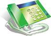 通讯0073,通讯,科技,电话机 绿色话筒
