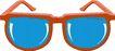 眼镜0033,眼镜,服饰潮流,橘色边框眼镜