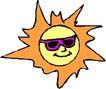 夏天0073,夏天,季节,戴眼镜的太阳