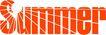 夏天0079,夏天,季节,橙色字体
