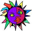 夏天0080,夏天,季节,彩色太阳